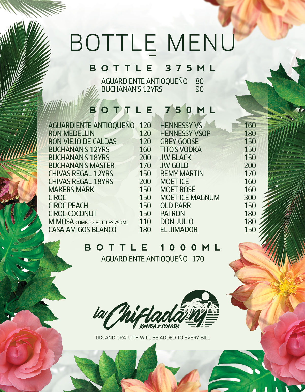 la-chiflada-friday-bottle-menu-saturday